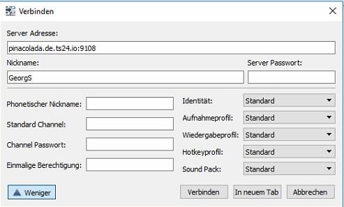 Teamspeak-Server